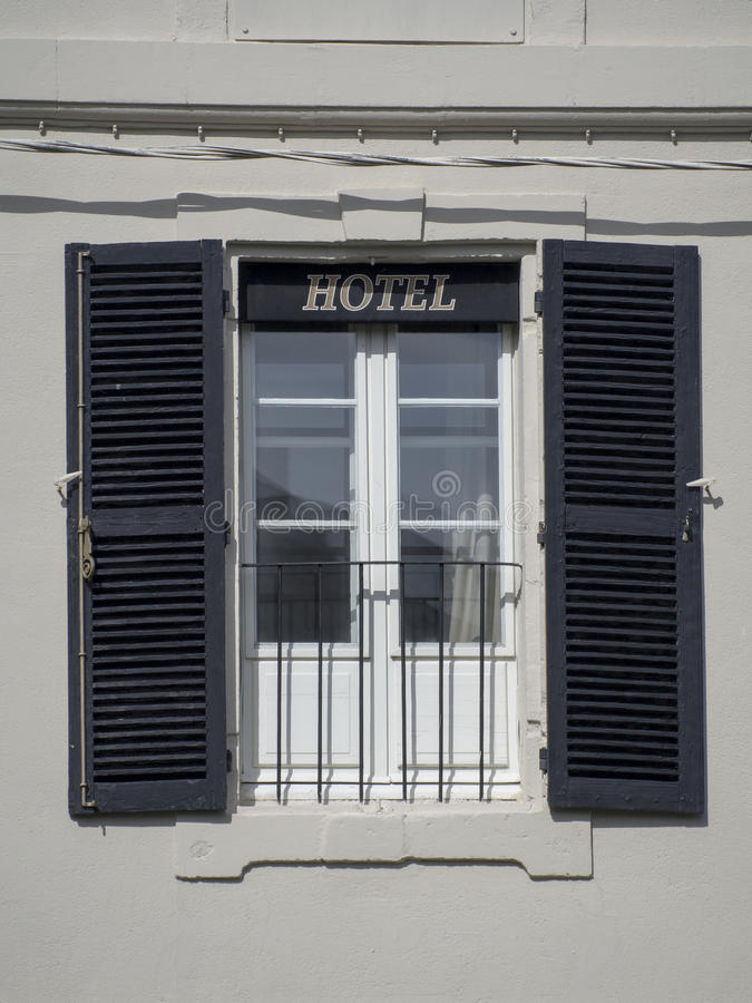 Old provencal hotel window stock photo