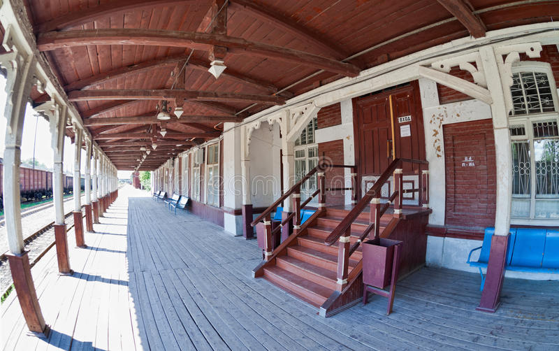Download Old Provincial Railway Station In Russia Stock Image - Image: 26652563