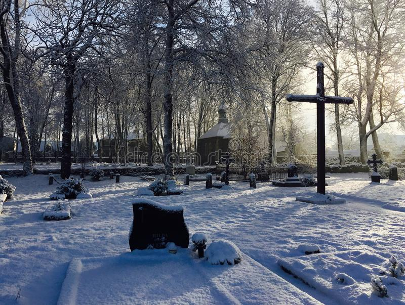 Old Prussian cemetery, Kretinga, Lithuania. Old Prussian cemetery in Kretinga, Lithuania. Year 2016 stock photography