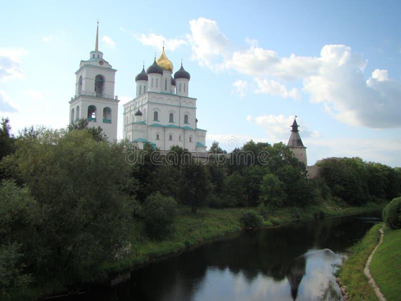 Ancient Pskov Kremlin royalty free stock images