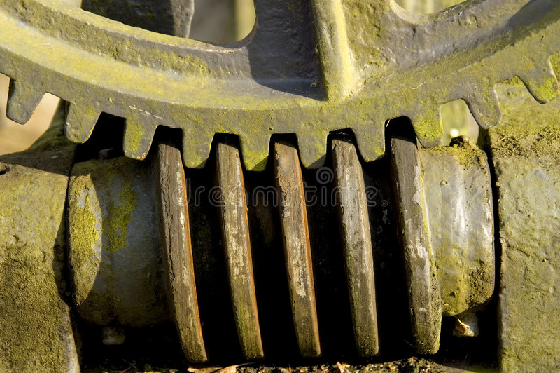 Download Old pump gear stock photo. Image of moss, green, power - 1422188