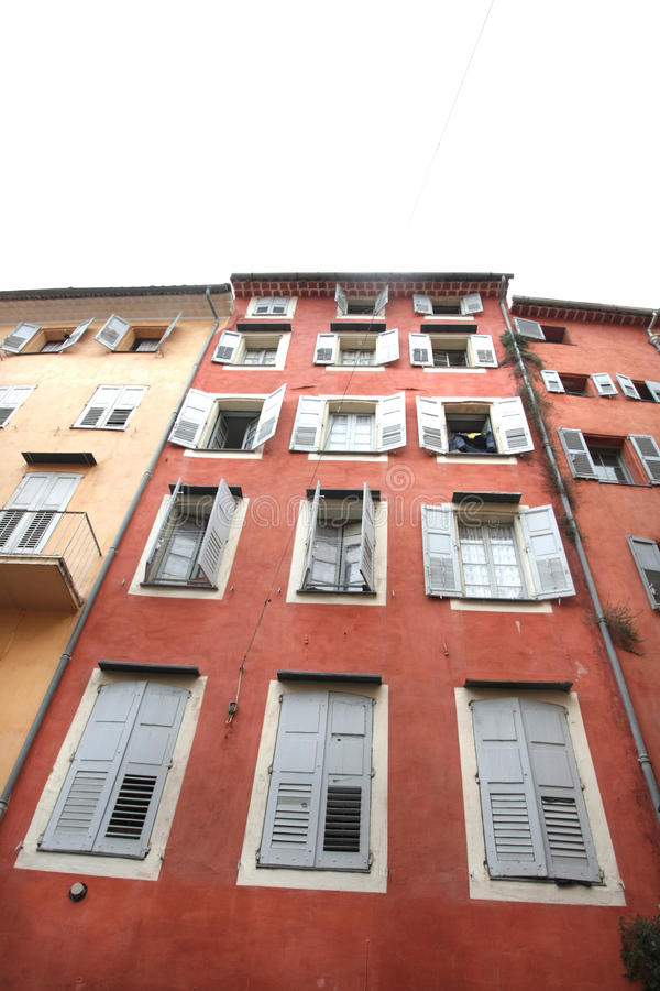 Download Old Purple House Of Grasse With Jalousies Stock Image - Image: 16399625