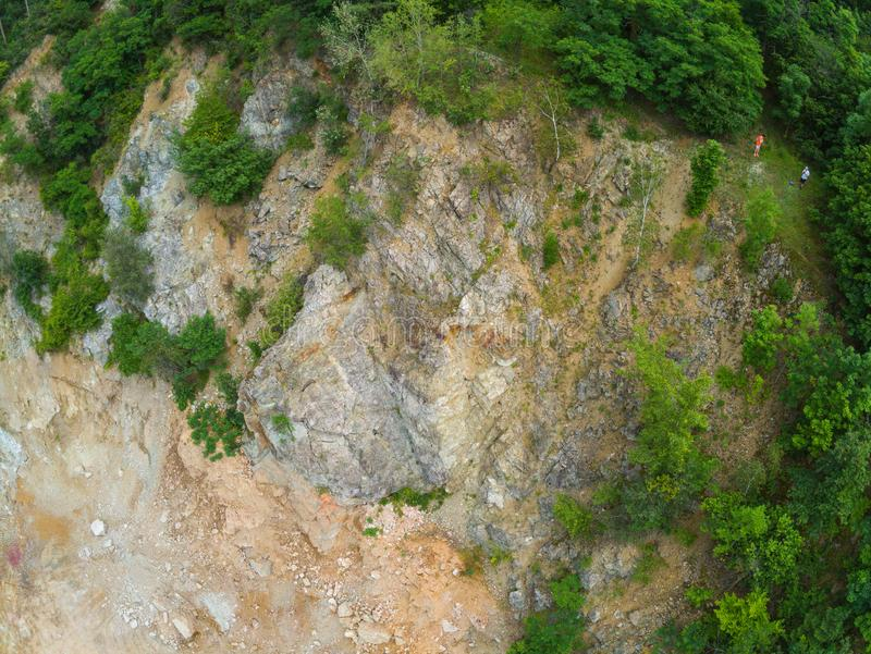 The old quarry in Brno-Komin from above stock photos