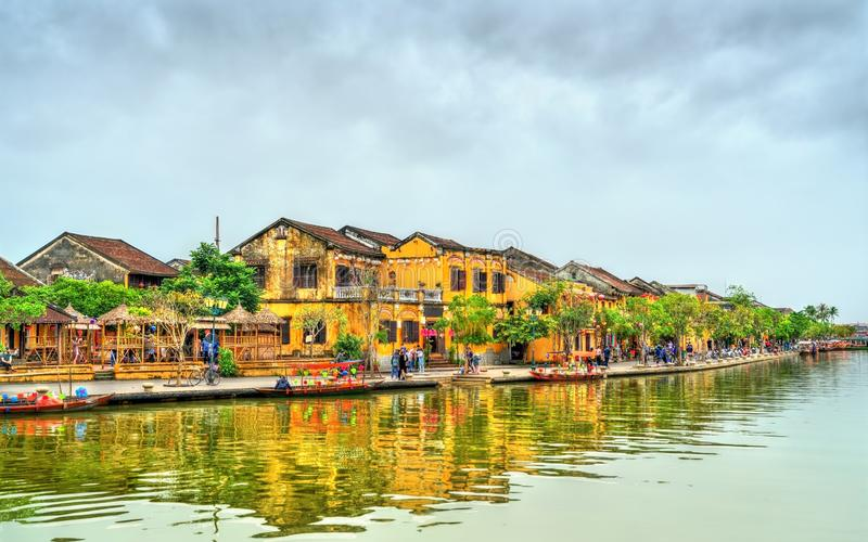 Old Quarter of Hoi An town in Vietnam stock image
