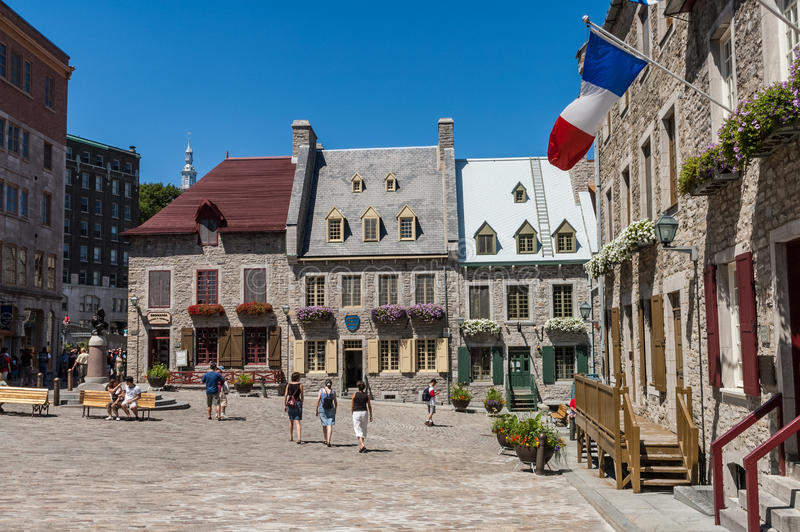 Old Quebec City, Canada. Traditional buildings in Old Quebec City, Canada royalty free stock photo