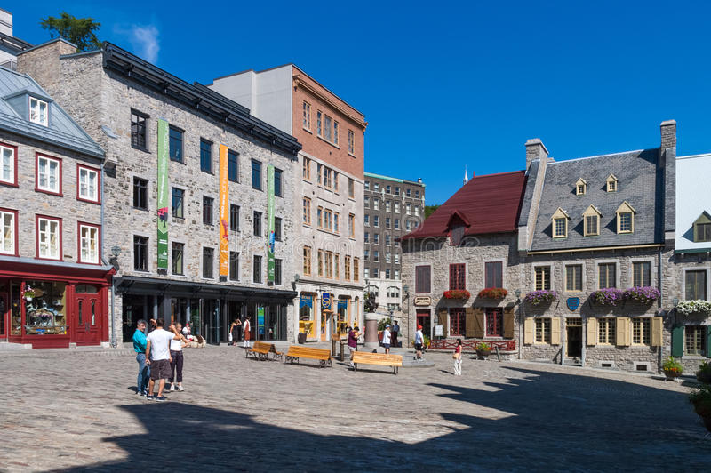 Old Quebec City, Canada. Traditional buildings in Old Quebec City, Canada stock photos