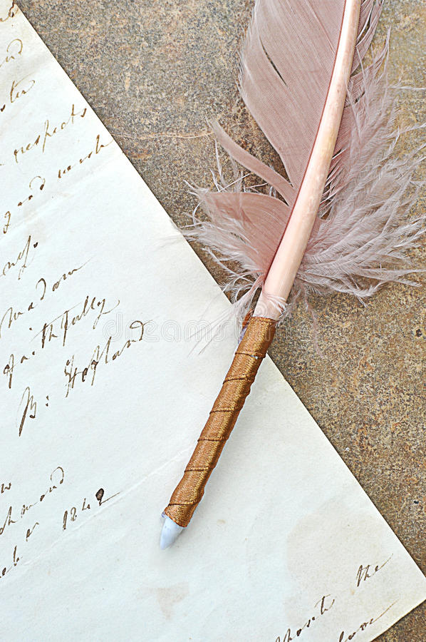 Download Old Quill And Letter Stock Photography - Image: 22739122