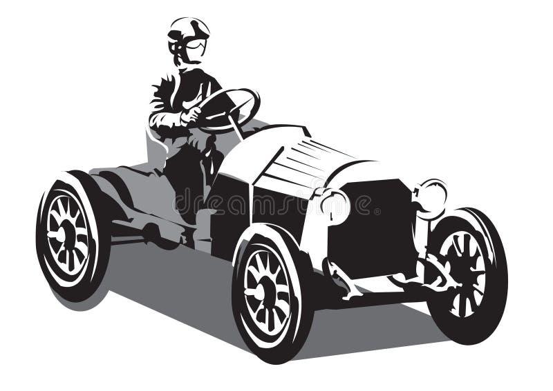 Old racing car royalty free stock photos
