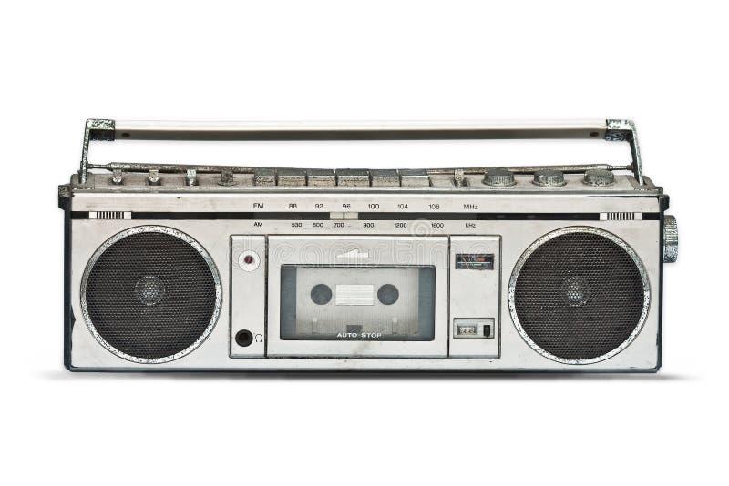 Old radio. Isolated on white royalty free stock photo