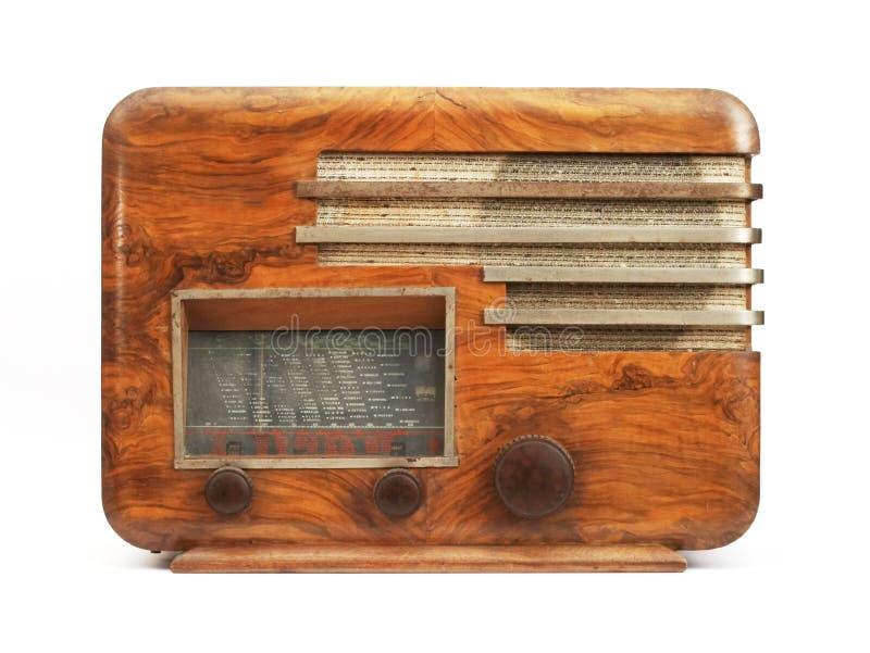 Old radio. An old radio royalty free stock photography