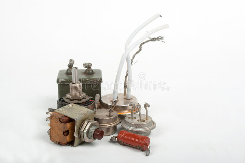 Download Old radio components stock image. Image of connection - 26596583