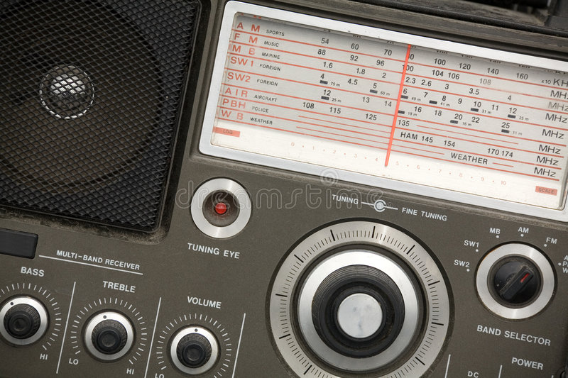 Old radio set royalty free stock image