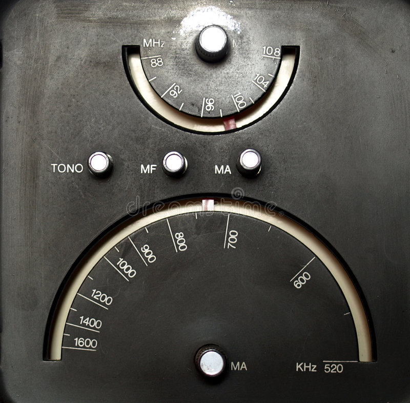 Old AM radio tuner royalty free stock photography