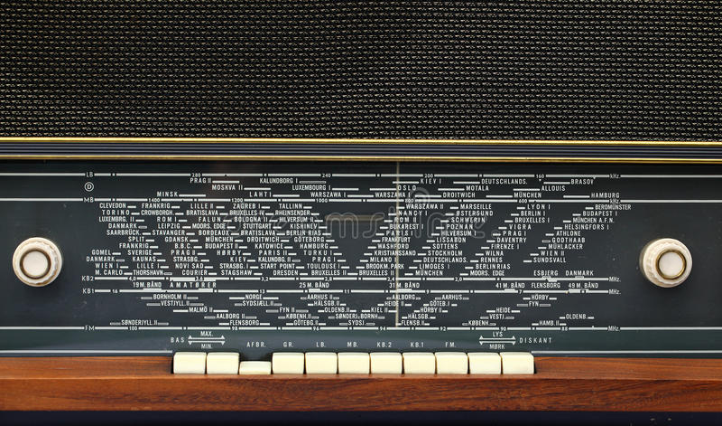 Old radio. On White background royalty free stock image
