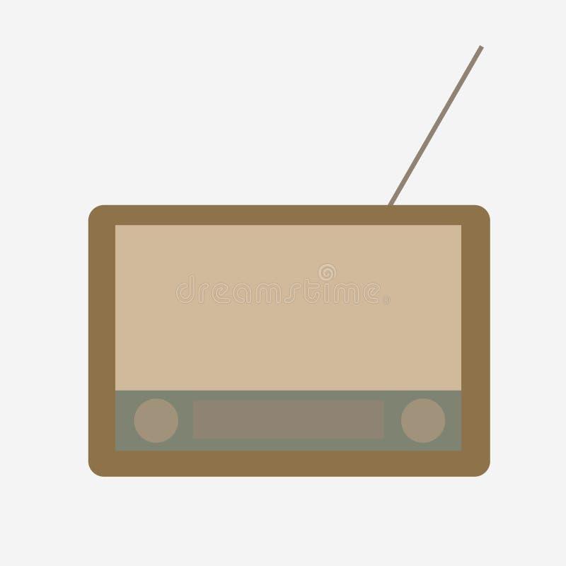 Old radio on a white background stock photos