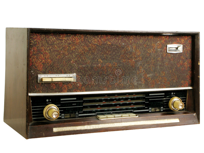 Old radios. This is a very old old radios.China royalty free stock images