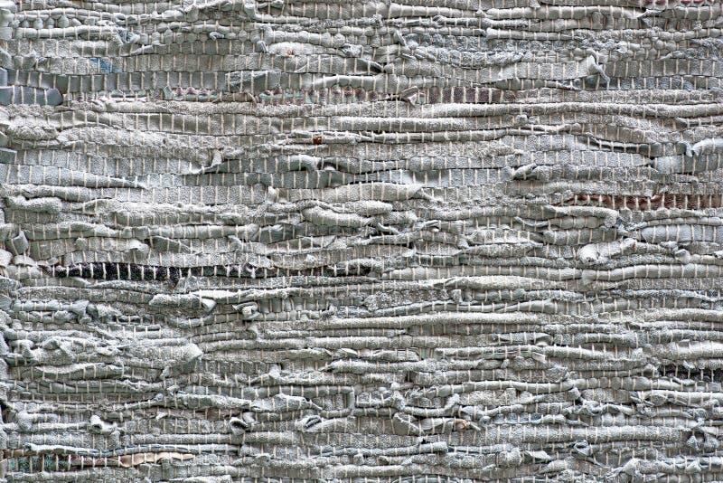 Old rag carpet stock images
