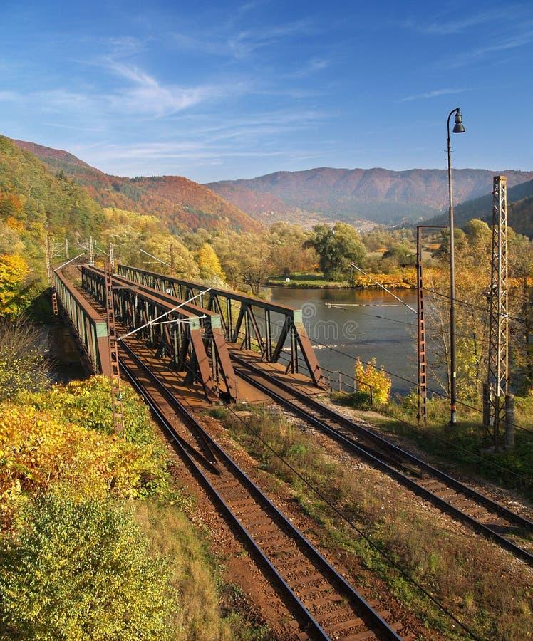 Old railroad bridge royalty free stock photography