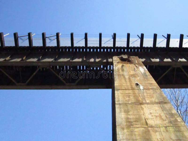 Old Railroad Bridge, Atlanta, Georgia. Bridges, rails, roads, train, trains, freight, traintrack, traintracks, trestle, historic, history, south, southern royalty free stock images