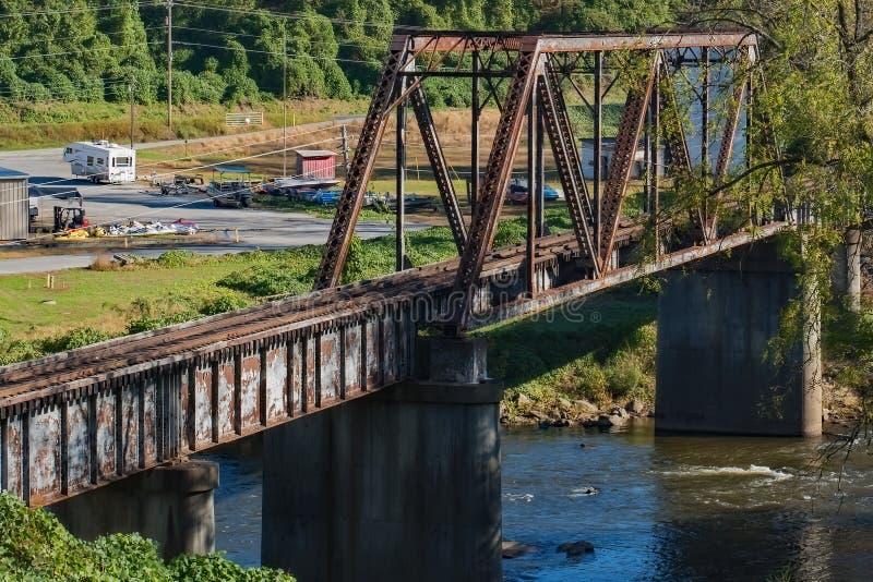 Old Railroad Bridge Bryson City. Old Railroad Bridge in Bryson City stock photo