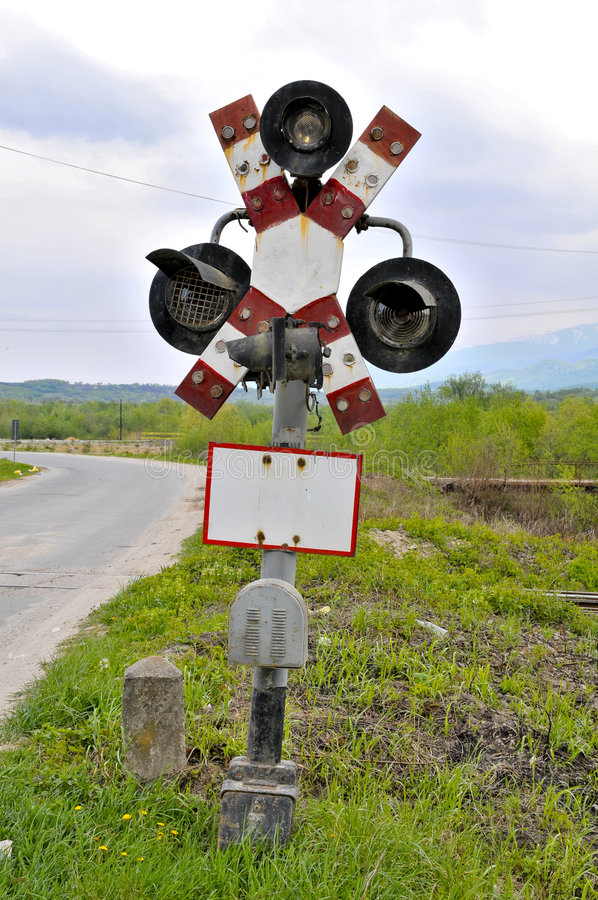 Download Old railroad crossing stock image. Image of bell, blank - 9225945