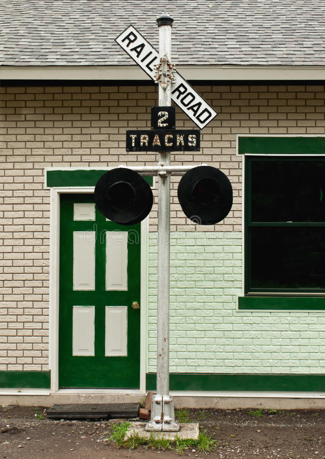 Old Railroad Crossing Sign Royalty Free Stock Images