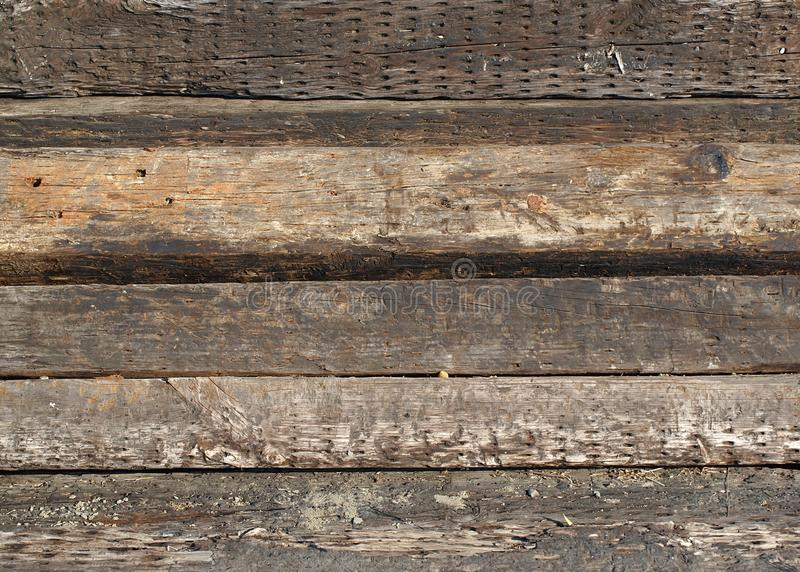 Old Railroad Ties stock images