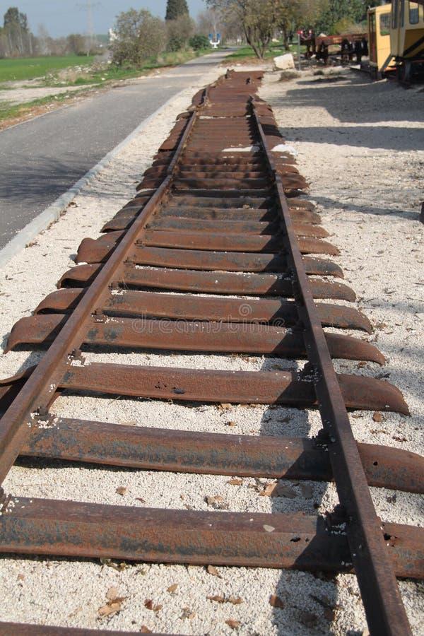 Old Rails, Al-Roy Old Train Station, Israel royalty free stock image