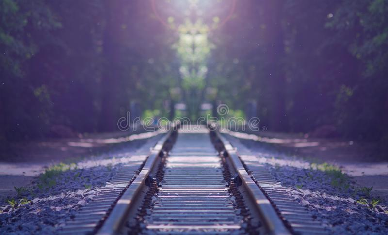 An old railway background royalty free stock photo
