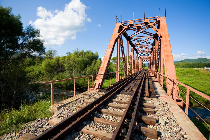 Download Old railway bridge stock photo. Image of background, country - 26418120