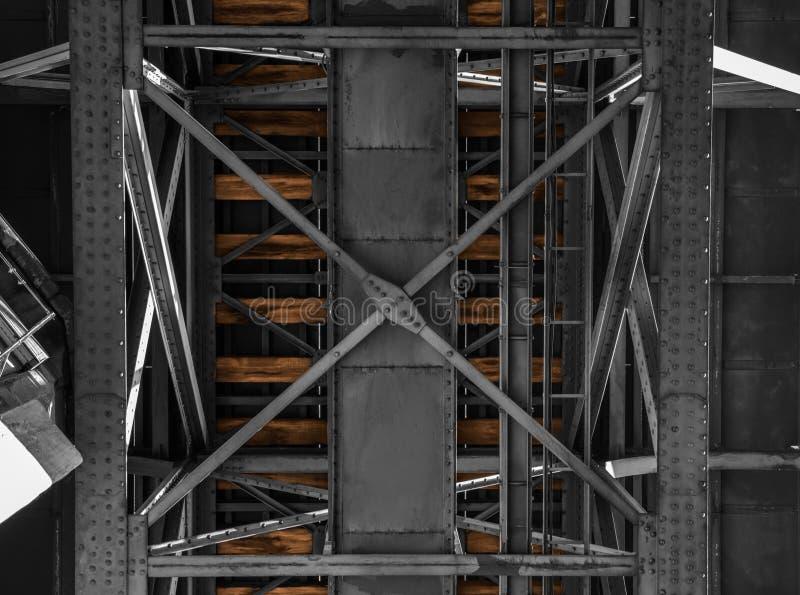 Old Railway bridge in porto stock image