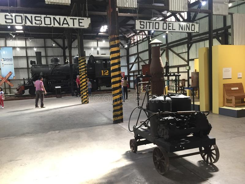 The old railway museum. The old train station in Quezaltepeque, El Salvador, is now the newest museum, full of many things that remind us of the time stock images