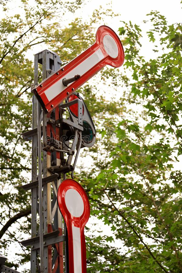 Old railway signal stock images