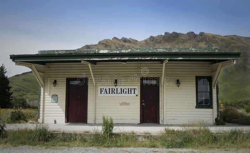 Old Railway Station. Fairlight, an abandoned railway station in New Zealand royalty free stock photo