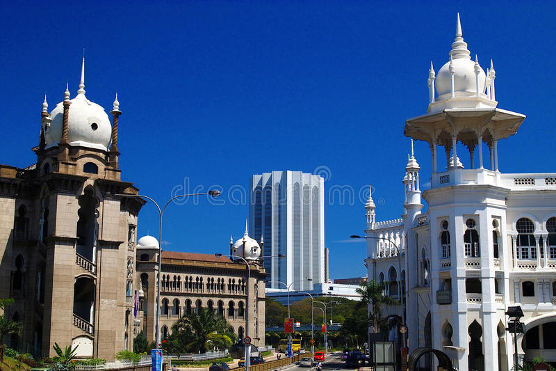 Old Railway Station, Kuala Lumpur, Malaysia. stock photos