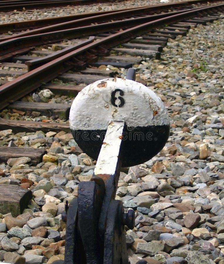 Old Railway Switching Device royalty free stock photos