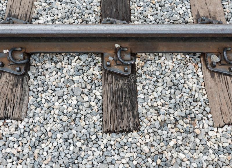 Old railway track with the wooden sleeper. royalty free stock images