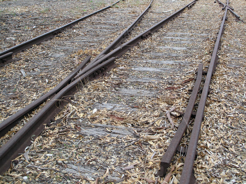 Old Railway Tracks royalty free stock images