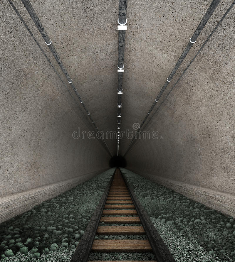 Download Old railway tunnel stock illustration. Image of transportation - 31932731