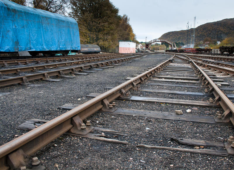 Download Old railway yard stock image. Image of rail, industry - 27424077