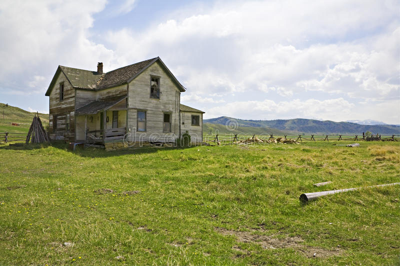 Old ranch house in the foothills royalty free stock image