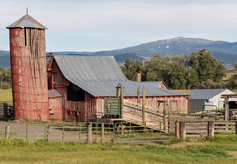 Old ranch outbuildings stock image