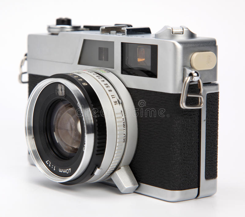 Download Old rangefinder camera stock photo. Image of shine, camera - 15558560
