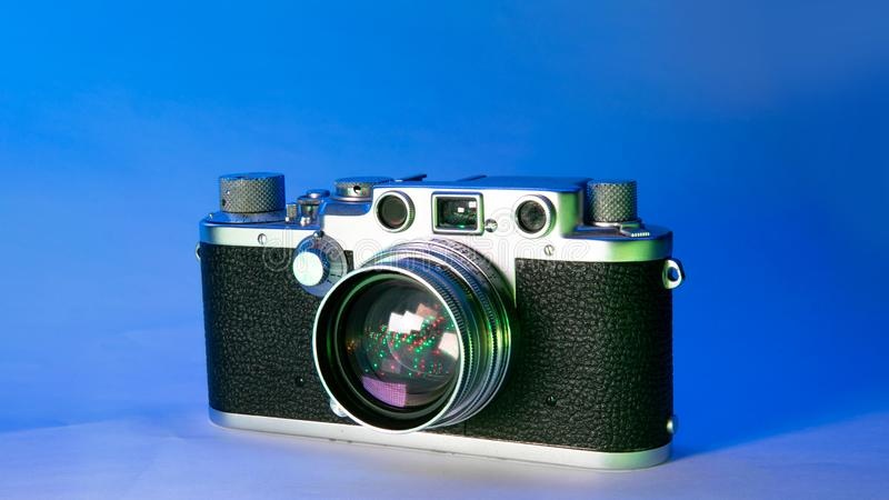 Old rangefinder camera stock photography