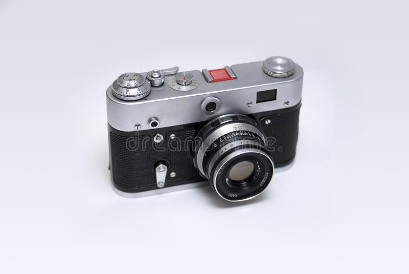 Download Old Rangefinder Russian Camera Stock Photo - Image: 19935598