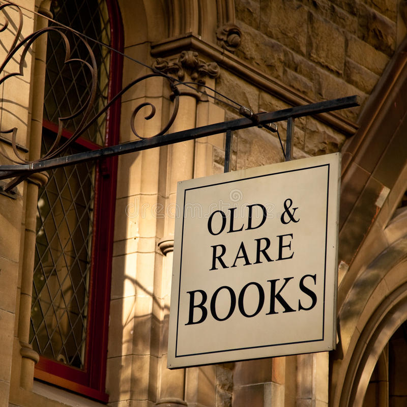 Download Old & Rare Books Sign stock photo. Image of stone, publishing - 13209358