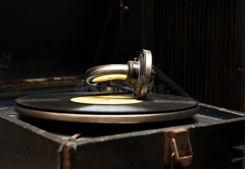 Download Old Rarity Gramophone With Record Stock Image - Image: 8123211