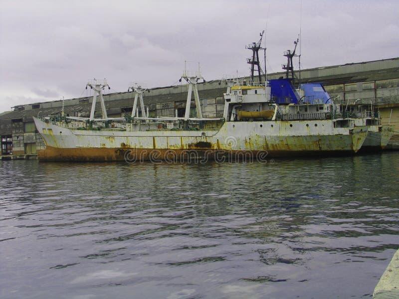 Old rasty boat. Old boat on the sea, hawana, cuba royalty free stock photo