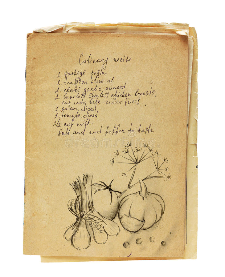 Download Old recipe book isolated stock photo. Image of antigue - 33493188