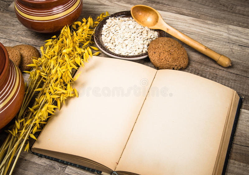 Old recipe book on the kitchen table stock photo image of cereal download old recipe book on the kitchen table stock photo image of cereal food workwithnaturefo